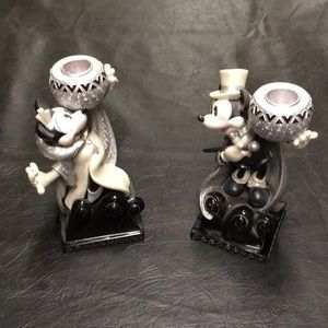 Disney Mickey and Minnie candle stick holders